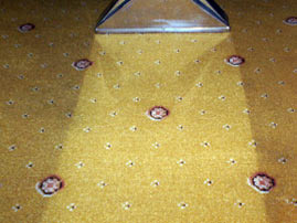 After picture of a dirty domestic carpet